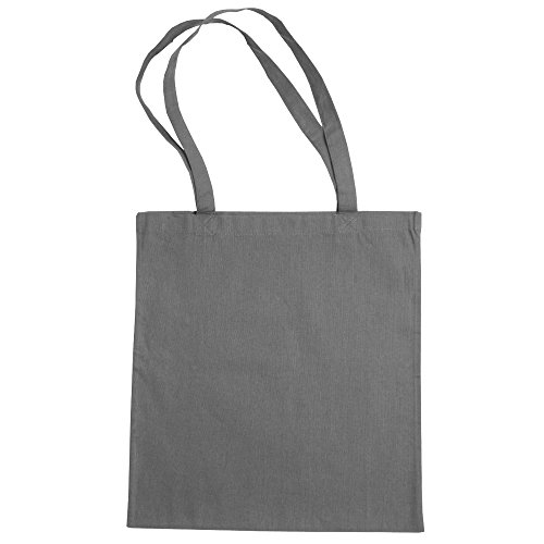 "Jassz Bags ""Beech"" Cotton Large Handle Shopping Bag / Tote Light Grey"