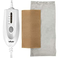 Heating Pad by ViveExperience consistent pain relief with the Vive ultrasoft heating pad. The Vive ultrasoft heating pad maintains a consistent heat, which is set by the easy to press buttons on the digital controller. Four heat settings, wit...