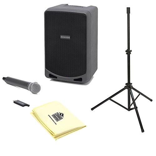 "Samson SAXP106W Portable PA 6"" 100 watts with Bluetooth,"