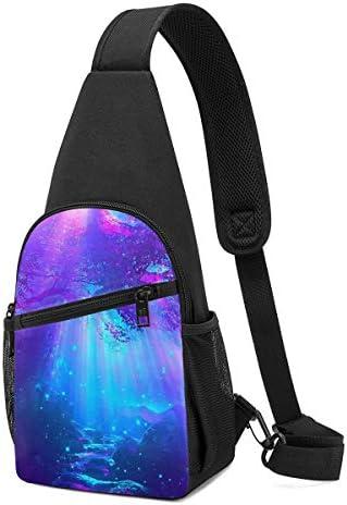 ボディ肩掛け 斜め掛け 奇妙な海底世界 ショルダーバッグ ワンショルダーバッグ メンズ 軽量 大容量 多機能レジャーバックパック