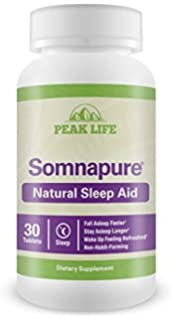 Peak Life Somnapure, Non-Habit-Forming, Gentle Sleep Aid with Melatonin &