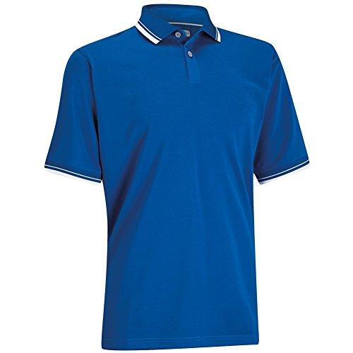 (Ashworth Men's Classic Golf Polo (Small, Blue))
