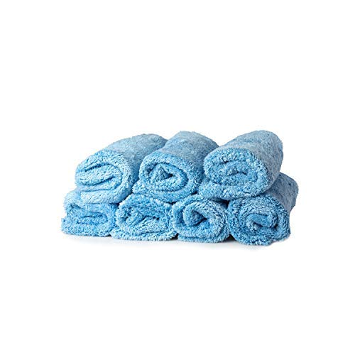 Towel Titan - Total Towel Microfiber Plush Utility Towels 16 x 16 Inches, 7 Pack - Premium, Soft Microfiber All-Purpose Plush Towels Are Safe For All Surfaces - Great For Detailing Your Entire Vehicle