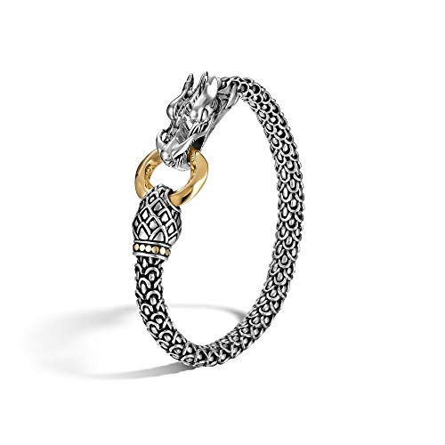 - John Hardy Women's Legends Naga Gold & Silver Dragon Bracelet with Gold Ring, Size M BG