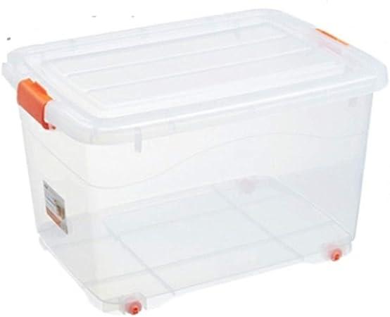 Zhangmeiren Caja De Almacenamiento Caja De Almacenamiento De Plástico Caja De Almacenamiento Grande Transparente Ropa De Hogar Bocadillos Caja De Niños Pequeña con Tapa (Size : 35L): Amazon.es: Hogar