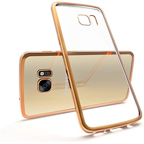 Galaxy S7 Edge Case, Myriann Ultra Thin TPU Clear Case Electroplating Slim Bumper Protective Anti Scratch Transparent Silica Case Cover for Samsung Sales