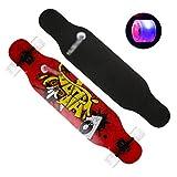 Flash Wheel Skateboard Male Girl Dancing Skateboard High Elastic PU Wheel Skateboard High Elastic Skateboard (Color : I)