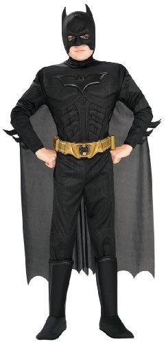 Deluxe Adult Batman Costumes Muscle Chest (Rubie's Costume Co Deluxe Muscle Chest Batman Costume, Large, Large)