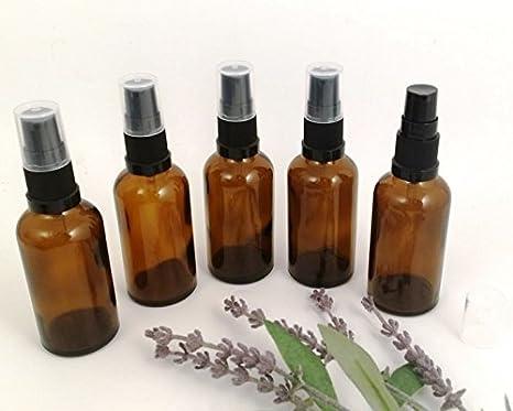 5 x 30ml Frasco de Vidrio Ámbar Aromaterapia Dispensador negro Calidad Óptima Vacío para Aromas Manualidades