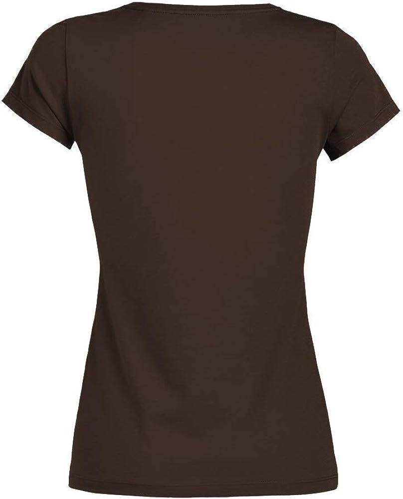 T-Shirt Dieu me cr/éa et Dit d/émerdez-Vous avec Femme