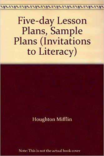 amazon five day lesson plans sample plans invitations to