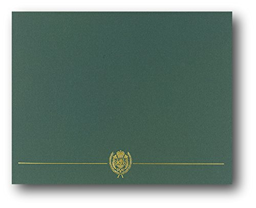 Green Classic Crest Certificate Covers - 25 Covers (Certificates Covers)