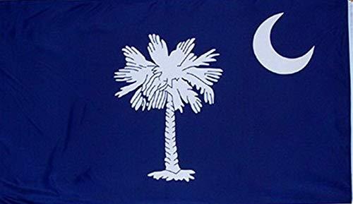 Shadow Spinners Pocket - Kaputar 3x5 South Carolina Flag 3x5 House Banner Grommets Super Polyester | Model FLG - 6176