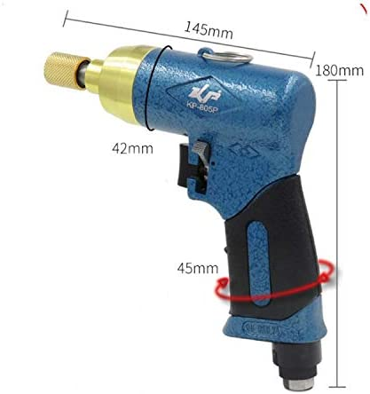 LKAIBIN High Strength Pneumatic Screwdriver, Pistol Type Wind Batch, Woodworking Home Air Batch Multifunction and Ergonomic