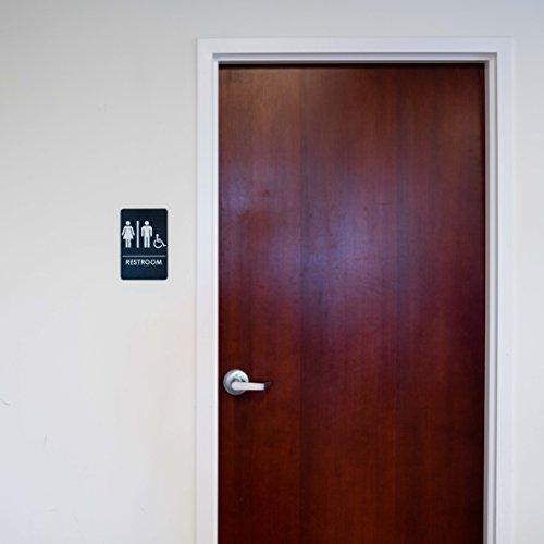 Men's and Women's Restroom Signs for Handicap Accessible Restroom, ADA-Compliant Bathroom Door Signs for Offices, by Rock Ridge (Image #5)