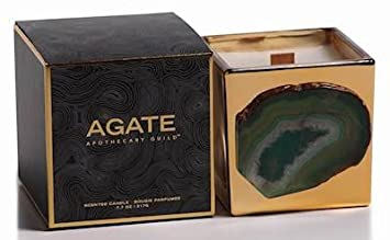 Agate Apothecary Guild Scented Candle Jar 7.7oz Black Currant Fragrance Zodax IG-2250