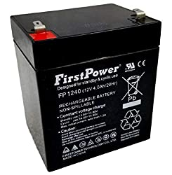 Casil Ca1240 12v 4ah Sla Rechargeable Replacement Battery By Firstpower