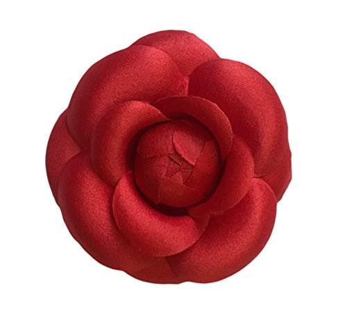 - Camellia Silk Fabric Flower Pin Brooch Flower. Red Camellia Brooch Pin - Hand-made in New York's Garment Center (American Made)