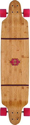 Globe Bannerstone Complete Skateboard, Red Bamboo, 41