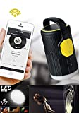 Rechargeable Multipurpose LED Camping Lanterns Emergency Lantern Flash Light; Bluetooth Speaker; Power Bank Portable Charger; For Hiking, Camping, Emergencies, Hurricanes, Outages(YELLOW)