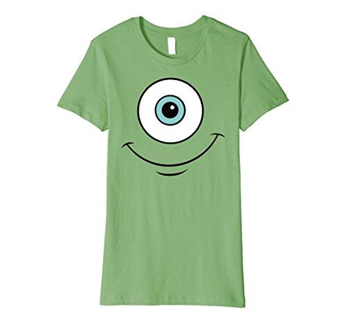Womens Disney Pixar Monsters Inc. Mike Eye Smile Premium T-Shirt Small Grass