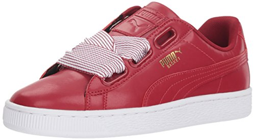 (PUMA Women's Basket Heart Wn Sneaker, red Dahlia, 9.5 M US)
