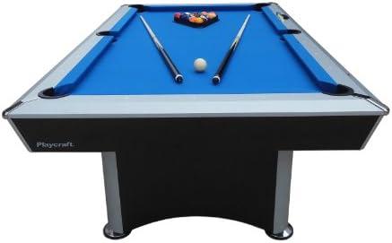 Playcraft Sprint Gamuza de Azul Mesa de Billar, Negro/Gris: Amazon.es: Deportes y aire libre