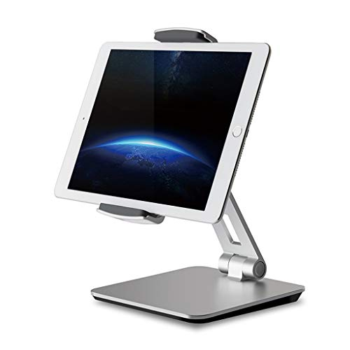 "FJ Tablet Stand Holder, Adjustable Desktop, 360° Swivel Rotating Business Stand for iPad Pro10.5 9.7"" 12.9'' iPad Air Mini Surface Pro 4 Kiosk POS Stand 3.5""-14"" Cell Phones and Tablet Silver"
