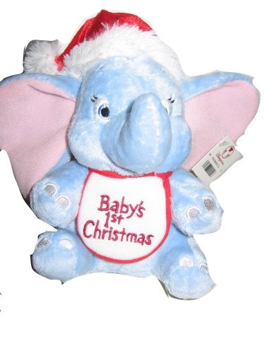 Click for larger image of Baby's First Christmas Dumbo Plush Toy