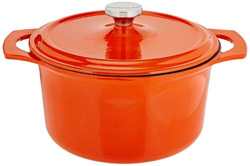 Deep Oval Covered Dish (Rachael Ray Cast Iron 5-Quart Covered Round Casserole, Orange)