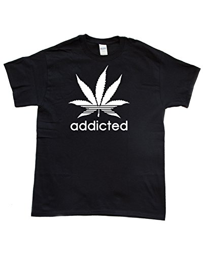 R-Garments-Addicted-Weed-Leaf-Smokers-Marijuana-420-T-Shirt