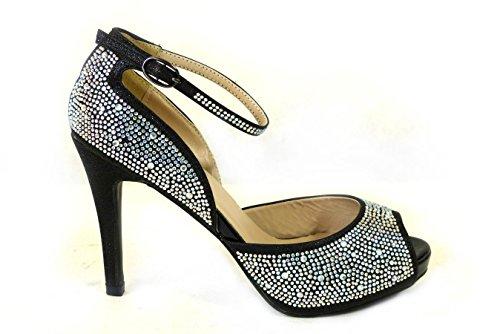 SKO'S 1 Sandales Black femme pour 8028 x6xnUwa