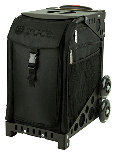 ZUCA Sport Artist - Stealth Sport Insert Bag with Black Frame Flashing Wheelset with 4 Large Utility...