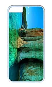 MOKSHOP Adorable green sea zakinthos greece Hard Case Protective Shell Cell Phone Cover For Apple Iphone 6 (4.7 Inch) - PC White