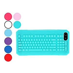QWERT Keyboard Design Durable Soft Case for iPhone 5/5S (Assorted Colors) --- COLOR:Navy