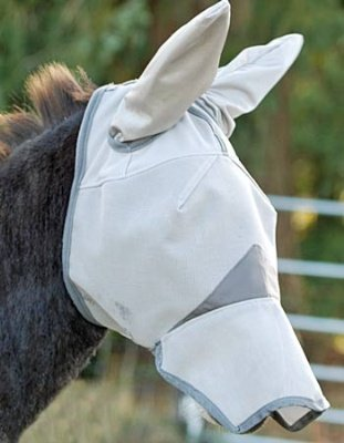 Cashel Crusader Mule Donkey Fly Mask with Long Nose and Ears - Mule, Size: Arab/Cob/Small Quarter Horse