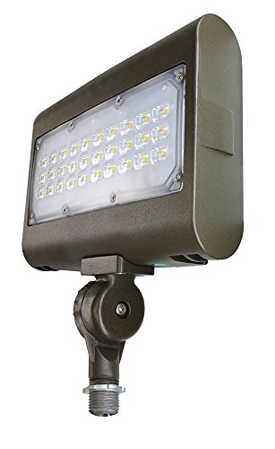 Super Bright LED Outdoor Flood Light by Ciata Lighting: Waterproof Security Light 5000K Light Fixture With Knuckle Mount Dark Bronze – 50 Watt Suitable For Driveway, Patio, Garden