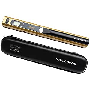 VuPoint Magic Wand Portable Photo & Document Scanner with Case (Metallic Gold)