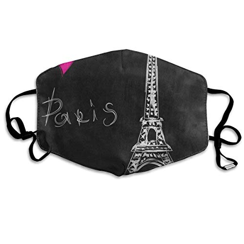 FunnyCustom Mouth Mask Eiffel Tower Heart Paris Face Mask Winter Healthy Washable for Students Halloween]()