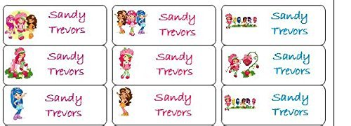 Amazon 30 Personalized Waterproof Name Labels Strawberry Shortcake And Friends Tags Favor