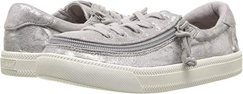 Price comparison product image BILLY Footwear Kids Baby Girl's Classic Lace Low (Toddler/Little Kid/Big Kid) Grey Metallic 4 M US Big Kid M