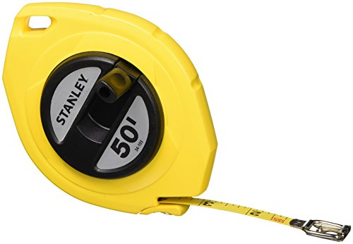 Stanley 34-103 50-Foot-by-3/8-Inch Steel Long Tape Rule (Case Tape Stanley Steel Measure)