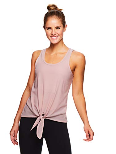 (Gaiam Women's Mesh Yoga Tank Top - Lightweight Performance Workout & Gym Shirt - Pale Mauve, Large)