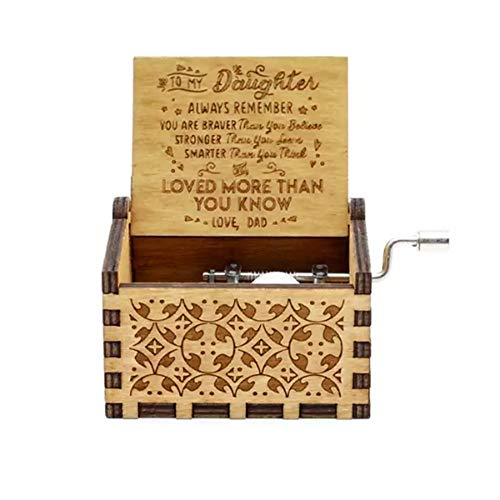 - Cuzit Engraved Music Box - You are My Sunshine, Gift for Daughter from Mom - You are Stronger Than You Seem, Smarter Than You Think - from Dad