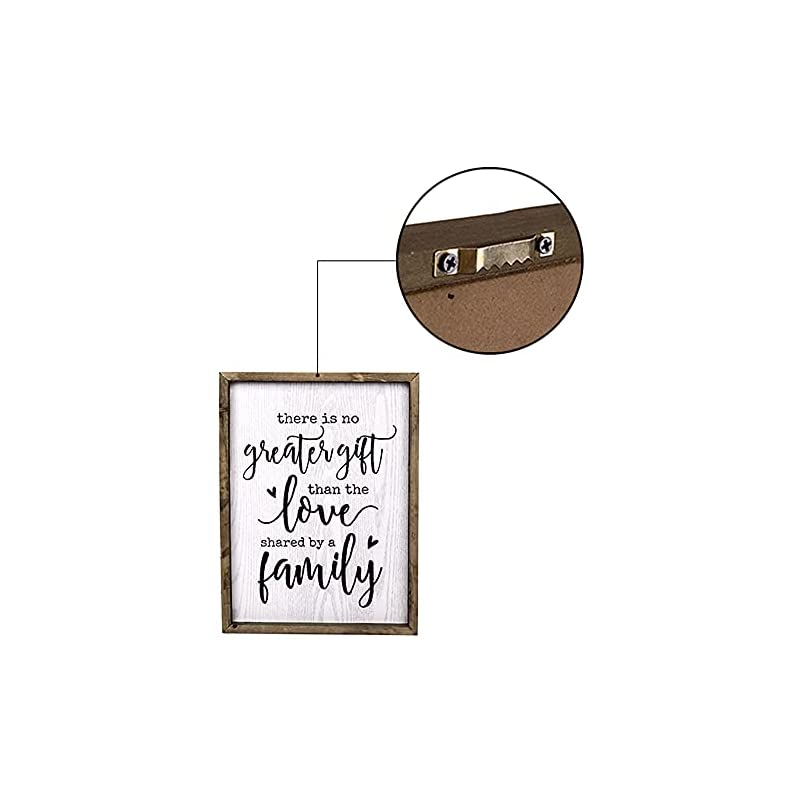 TERESA'S COLLECTIONS Farmhouse Family Sign Wall Decor, Rustic Wooden Hanging Sign Wall Art for Living Room and Home…