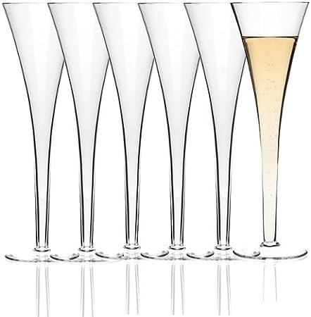 Leonardo Niza - Juego de 6 copas de champán (en caja de regalo): Amazon.es: Hogar