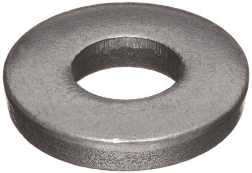 (12L14 Carbon Steel Flat Washer, Plain Finish, 1