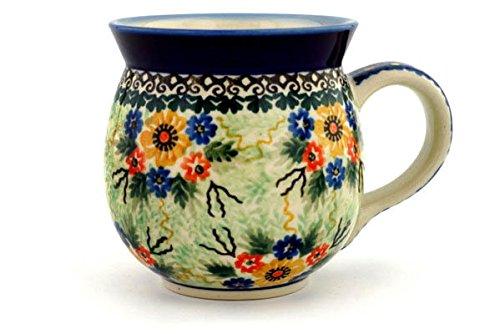Spring Glorious (Polish Pottery Bubble Mug 16 oz Glorious Spring UNIKAT)