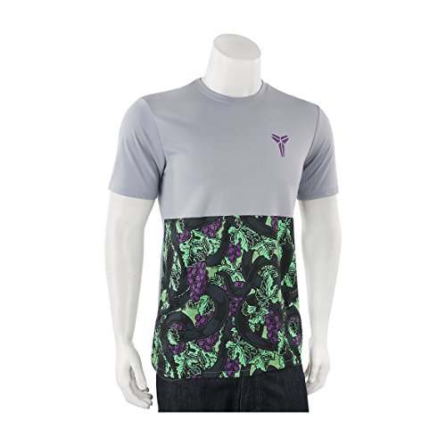 Nike Kobe Wolf Grey Green Vino T-Shirt, Shirt Style: 698690-012 (Large, Wolf Grey/Green)