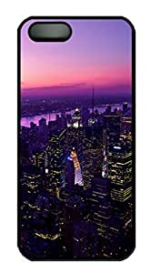 Metropolis Night Lights Aerial View Protective Hard Plastic Back Fits Cover Case for iphone 5 iphone 5s -1122019